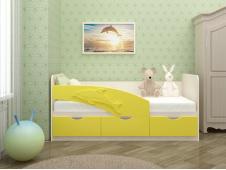 Кровать Дельфин желтый
