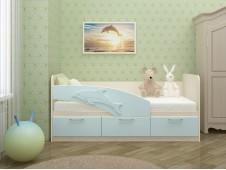 Кровать Дельфин голубой