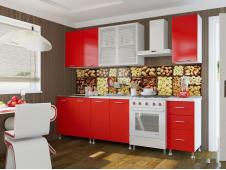 Кухня красная 2 метра