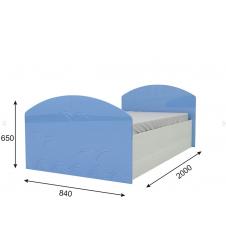 Кровать Юниор-2 голубая