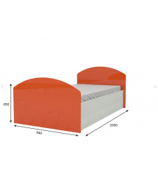 Кровать Юниор-2 оранж