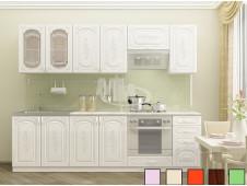 Кухня Лиза-2  белая   2.6 м
