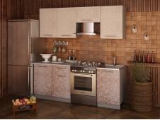 Кухня София Мозаика ваниль/какао  2.1 метра