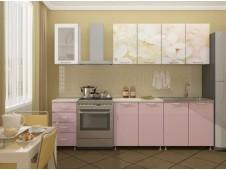 Кухня Вишневый цвет мдф