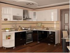 Кухня Техно МДФ  угловая  черная