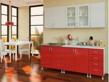 Кухня Микс бело-красный