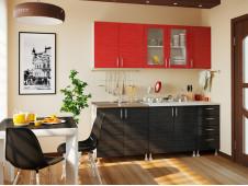 Кухня Микс черно-красный