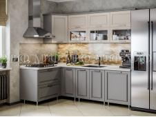 Кухня Констанция графит/ваниль угловая