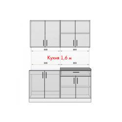 Кухня Рио белый/крафт 1.6 м