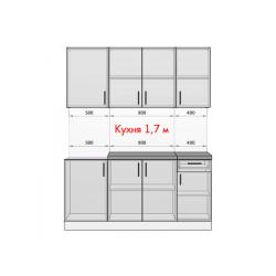 Кухня Рио белый/крафт 1.7 м