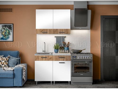 Кухня Рио белый/крафт 1.0 м