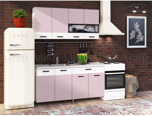 Кухня Рио розовая 1.6 м
