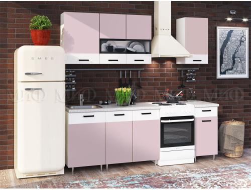 Кухня Рио розовая 1.7 м