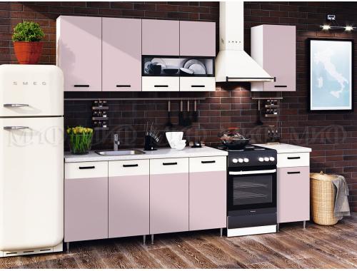 Кухня Рио розовая 2.0 м