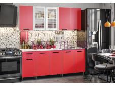 Кухня Рио-1 красный