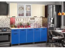 Кухня Рио-1 синий/бежевый