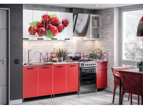 Кухня Рио-1 вишня