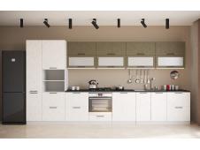 Кухня София Олива бетон коричневый/белый