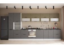 Кухня София Олива бетон коричневый/черный