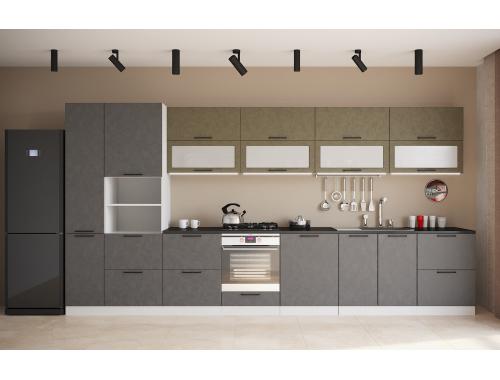 Кухня София бетон (вариант №7)