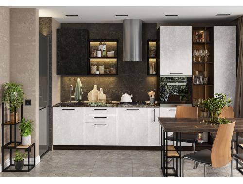 Кухня София бетон (вариант №13)