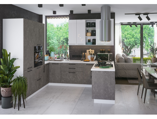 Кухня София бетон (вариант №3)