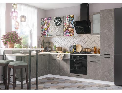 Кухня София бетон (вариант №10)
