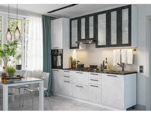 Кухня София бетон (вариант №2)