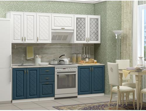 Кухня Ирина белая/джинс