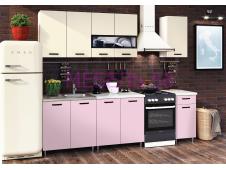 Кухня Рио-2 розовый/бежевый