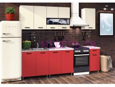 Кухня Рио-2 Красный/бежевый