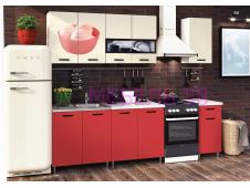 Кухня Рио-2 Мороженое красный