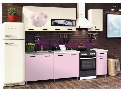 Кухня Рио-2 Мороженое розовый