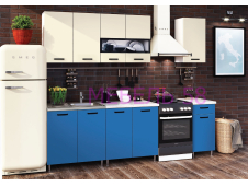 Кухня Рио-2 Синий/бежевый