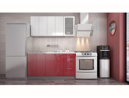 Кухня София белая / красная 1.6 метра