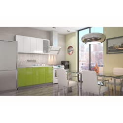 Кухня София белая / зеленая 1.6 метра