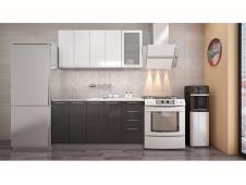 Кухня София белая / черная 1.6 метра