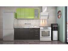 Кухня София зеленая / черная 1.6 метра