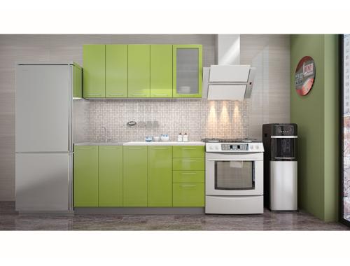 Кухня София зеленая 1.6 метра