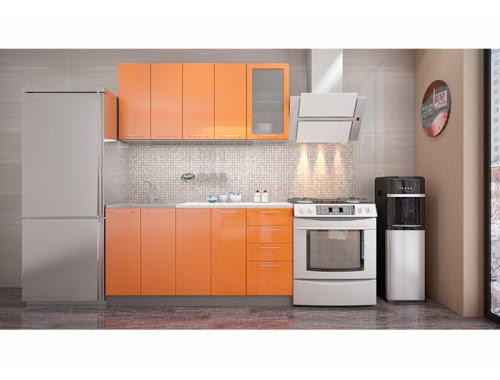 Кухня София оранж 1.6 метра