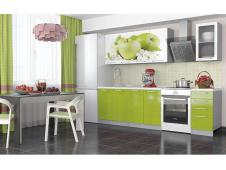 Кухня София Зеленые яблоки 1.8 метра