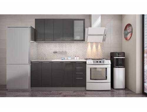 Кухня София черная 1.6 метра