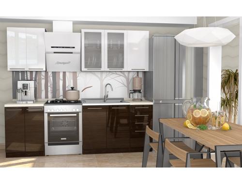 Кухня София Рио белый / венге 1.8 метра