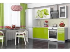Кухня София Зеленые яблоки 1.6 метра