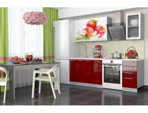Кухня София  Красные яблоки 1.6 метра