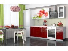 Кухня София Красные яблоки 1.8 метра