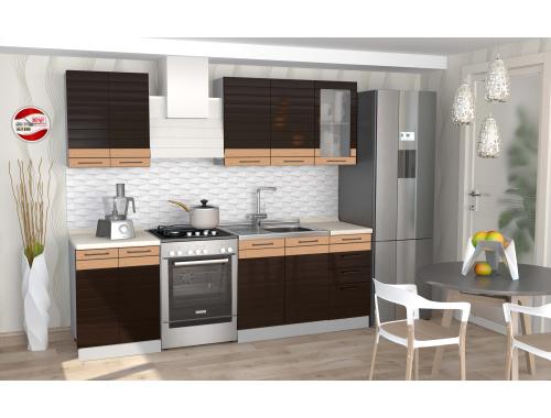 Кухня София Wood Line шоколад 1.8 метра