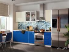 Кухня Фортуна синяя/бежевая