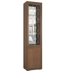 Пенал с витриной Ливорно ЛШ-4 орех
