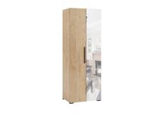 Шкаф 2-х створчатый с зеркалом Модена МШ-22 гикори